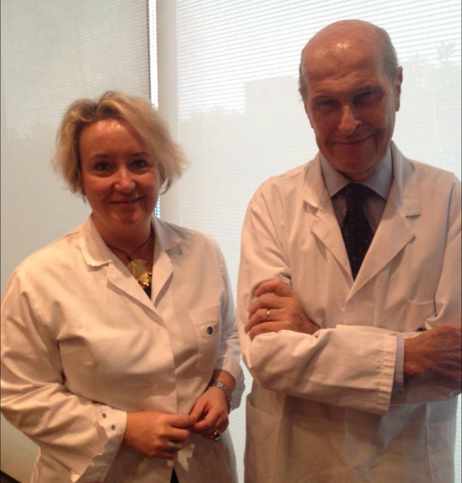 con Umberto Veronesi